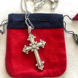 Brighton Pearl Cross Necklace
